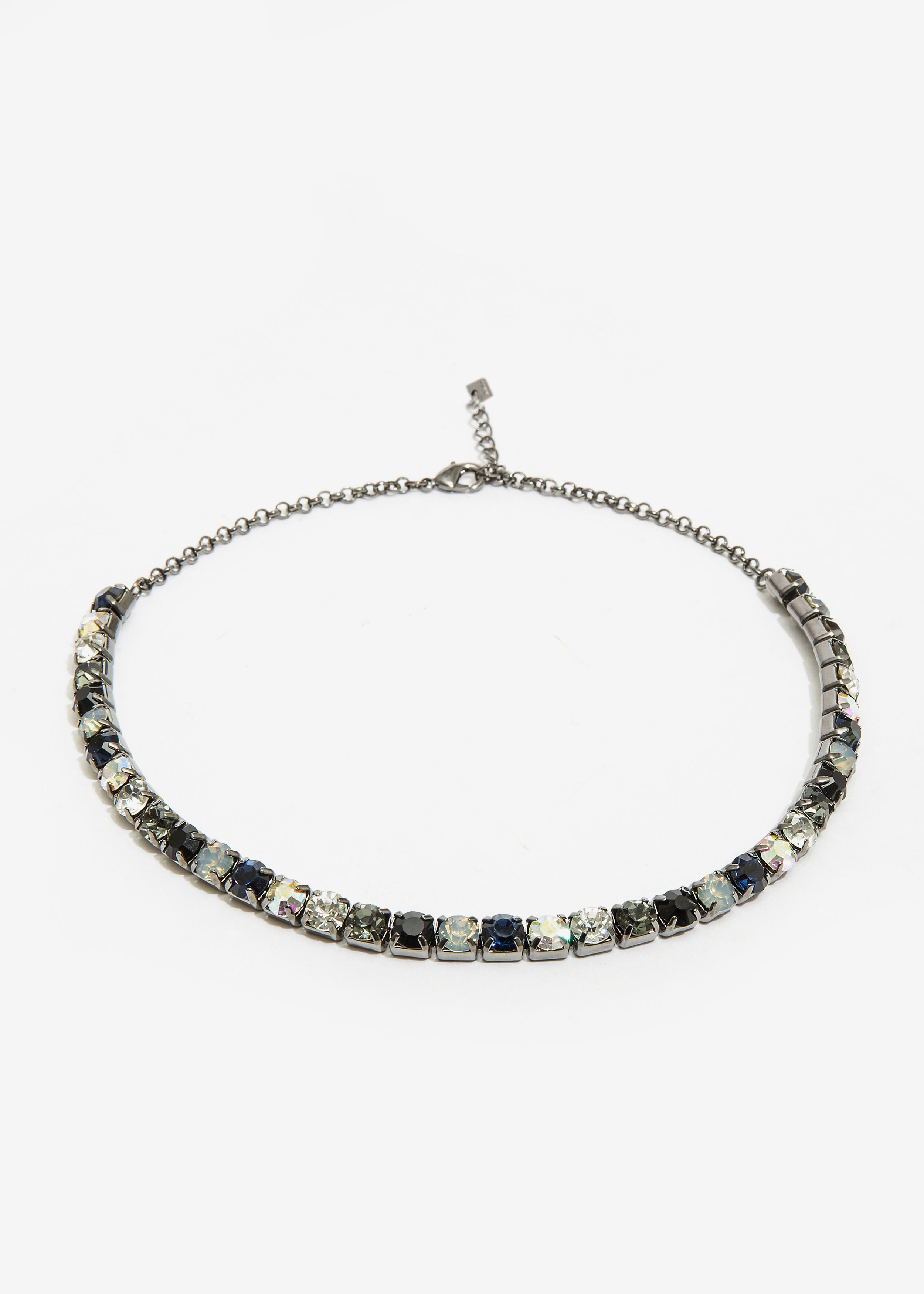 COLLANA GIROCOLLO ORO E CRISTALLI BLACK DIAMOND